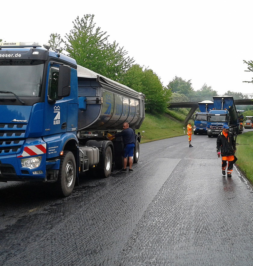 Sanierung der Landesstraße
